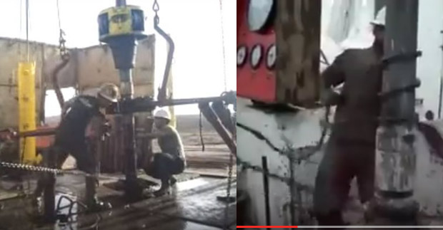 Making Up Drill Pipe Connection By Throwing A Spinning