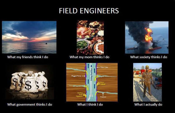 What My Friends Think I Do - Field Engineer