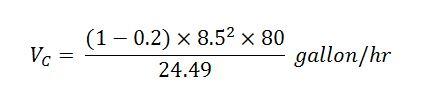 vc - gallon per hour (example)