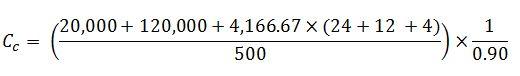 coring cost per foot formula-2