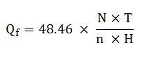 Fuel Consumption formula