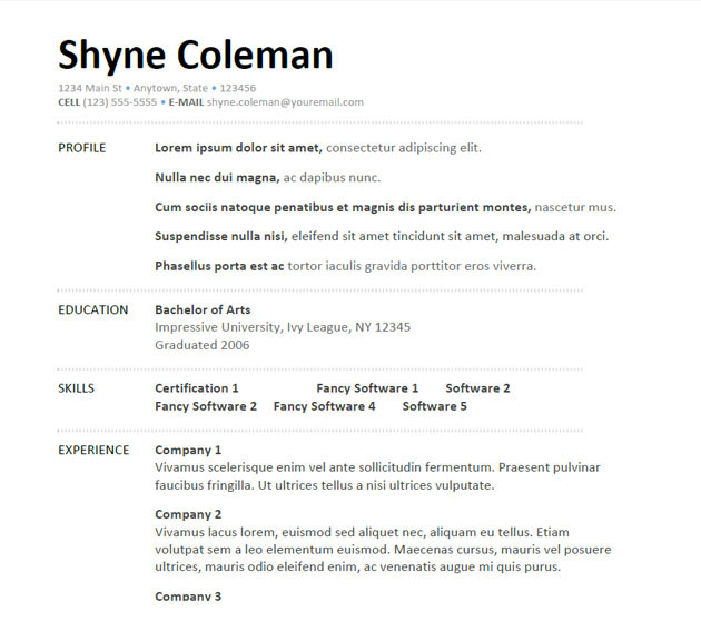 5 useful oilfield resume templates template 1 yelopaper Images