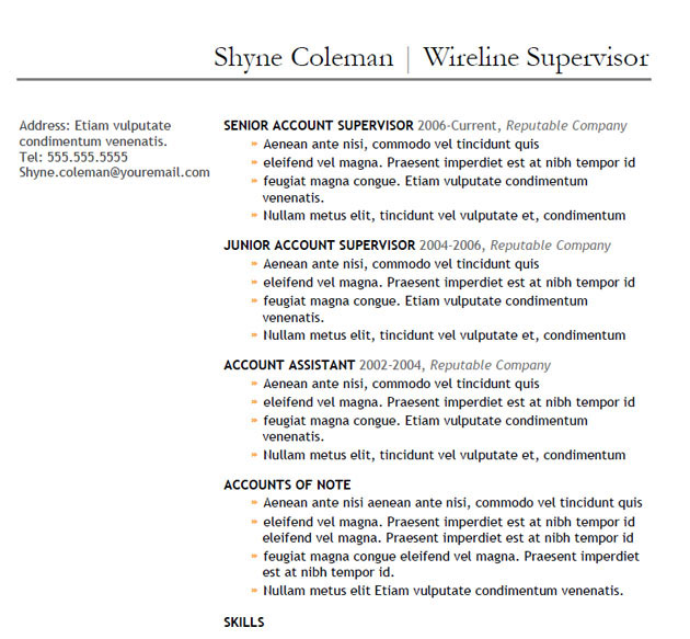 5 Useful Oilfield Resume Templates