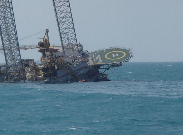 Accident of Jack Up Rig Offshore Mexico 1