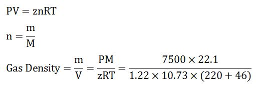 Example of Real Gas Calculation‎