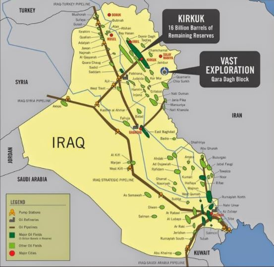 Iraq Oilfield Map