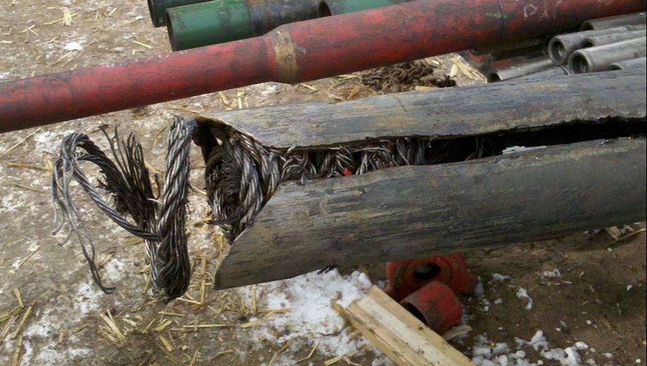 Figure 2 - Fishing Wireline in Hole, Dynastyenergyservices.net