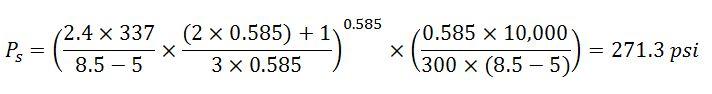 example 4 determine pressure loss around drill pipe