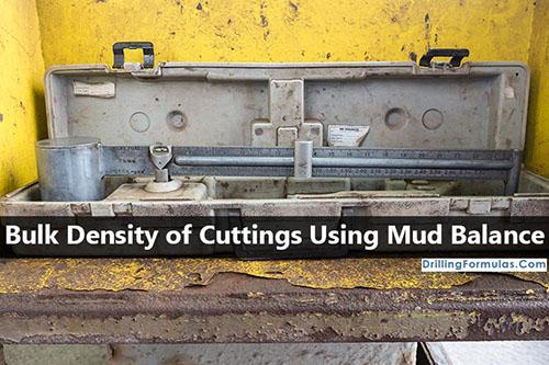 Bulk Density of Cuttings by Using Mud Balance - (OilfieldPix.com, 2017)
