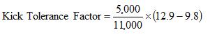 Kick Tolerance Factor Sample Calculation