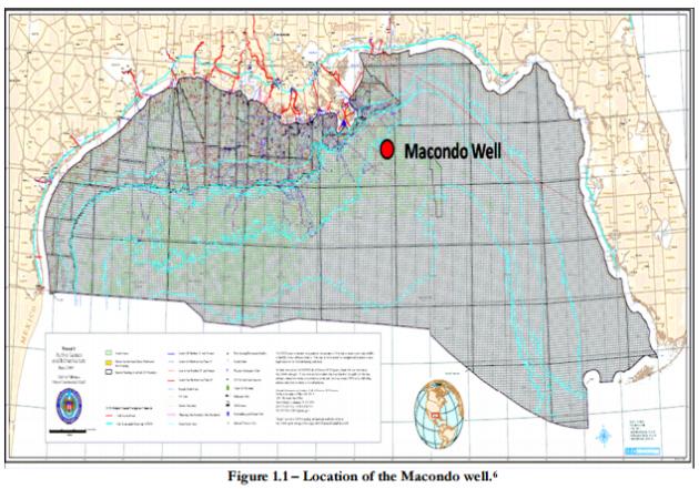 Figure 5 – Location of Macondo Well