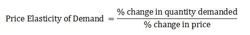 price elestic of demand equation