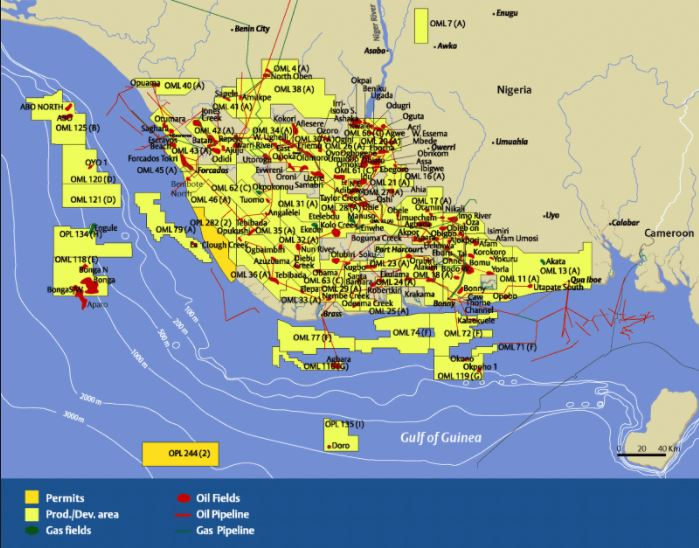 Nigeria Oilfield Map
