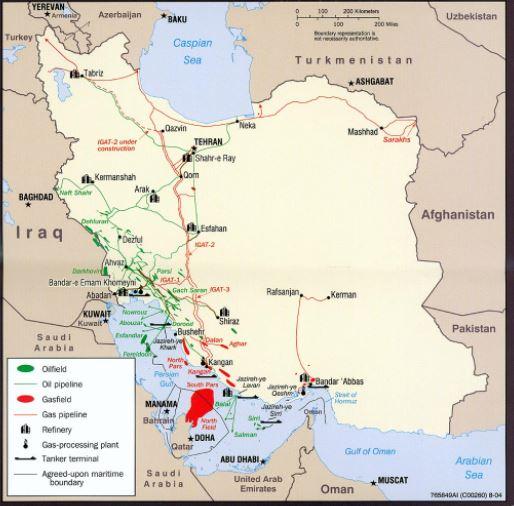 Iran Oilfield Map