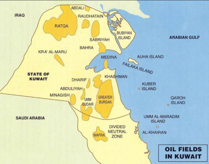 Kuwait Oilfield Map