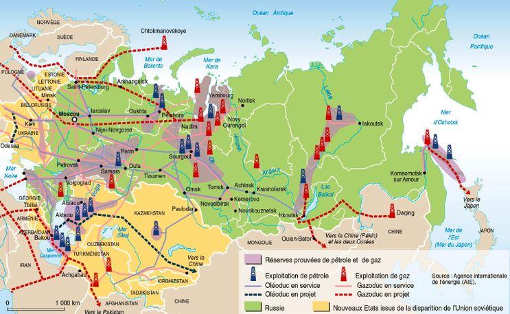 Russia Oilfield Map