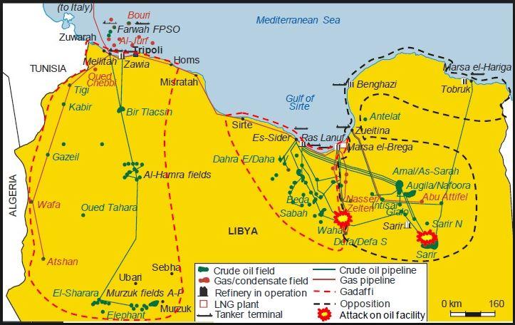 Libya Oilfield Map