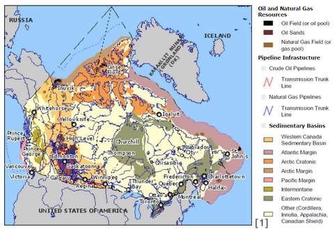 Canadian Oilfield Map